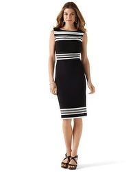 Sleeveless Striped Sheath