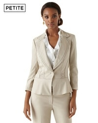 Petite Summer Weave Suit Jacket