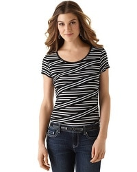 Directional Stripe Knit Top