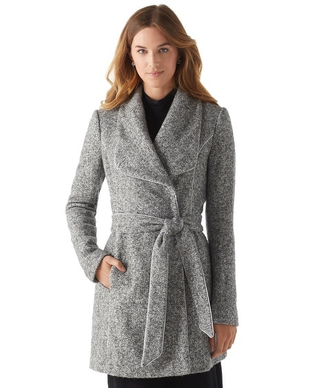 Tweed Wrap Coat
