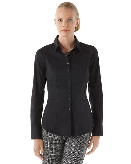 Black Poplin City Shirt