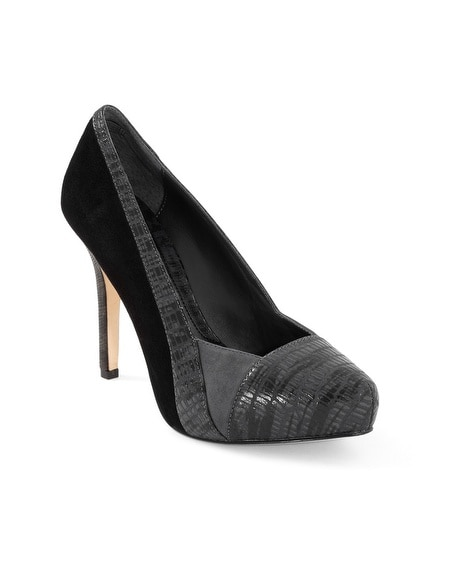 Exotic Cap Toe Suede Pumps