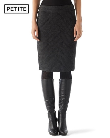 Petite Stitched Ponte Pencil Skirt