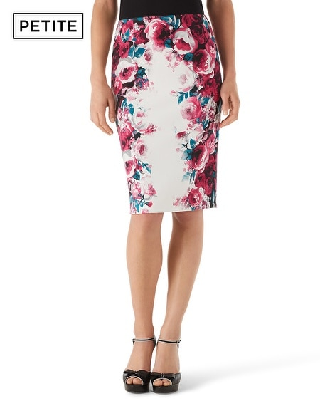 Petite Floral Print Pencil Skirt