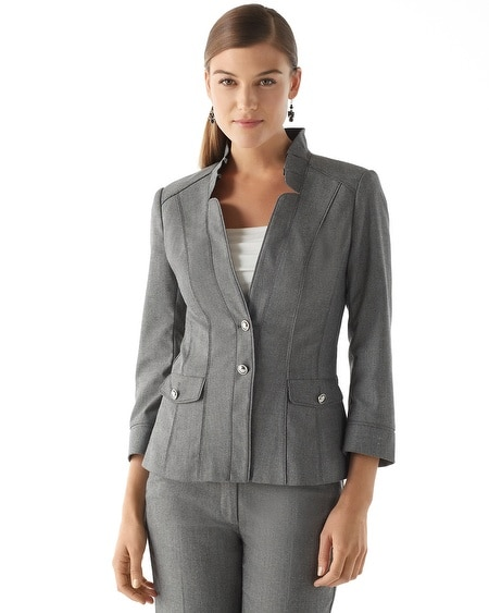 Herringbone Stripe Suit Jacket