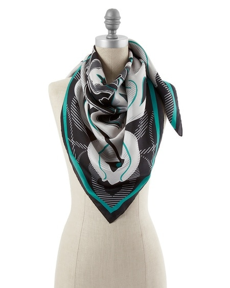 Medallion Silk Scarf