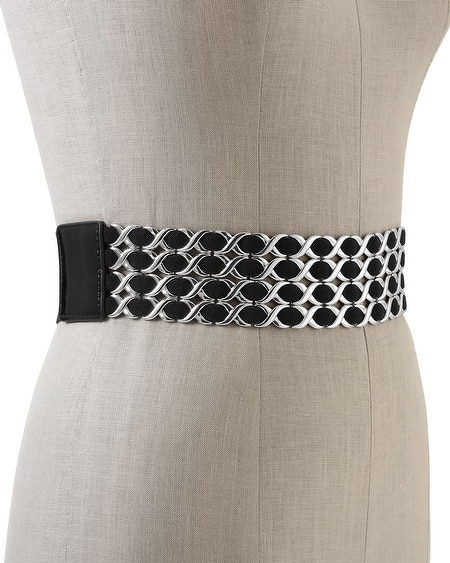Criss-Cross Link Stretch Belt