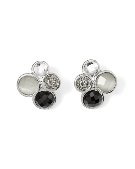 Black & White Dot Post Earring