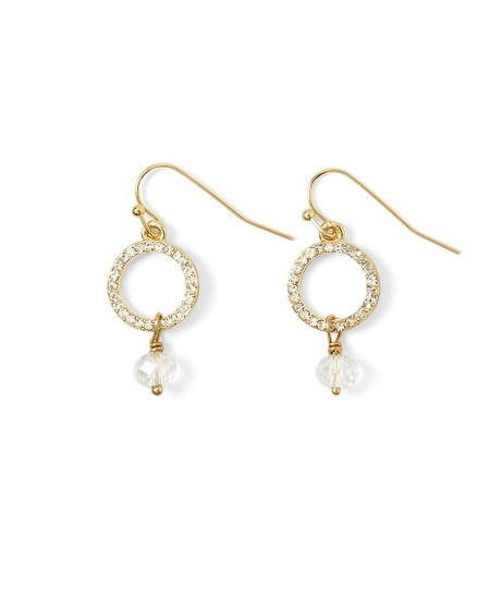 Crystal Ring Drop Earring