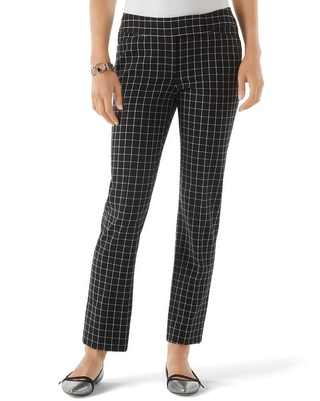 Windowpane Ankle Pant