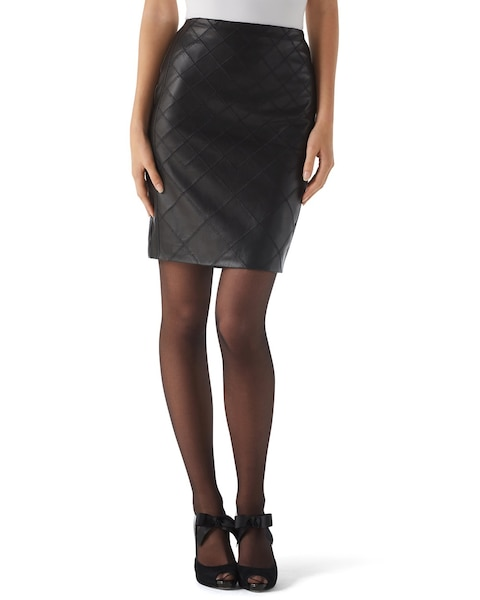 leather pencil skirt whbm