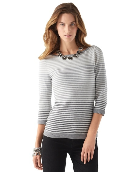 Ombre Shimmer Stripe Sweater