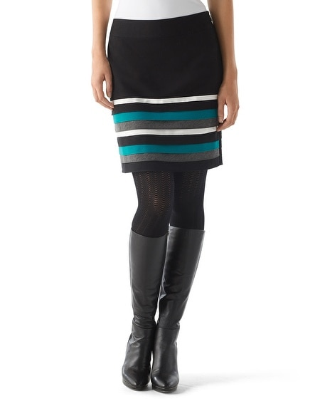 Tiered Pencil Skirt