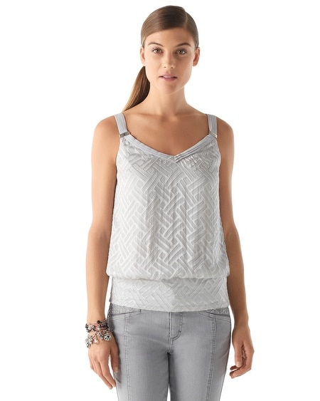 Chiffon Burnout Top