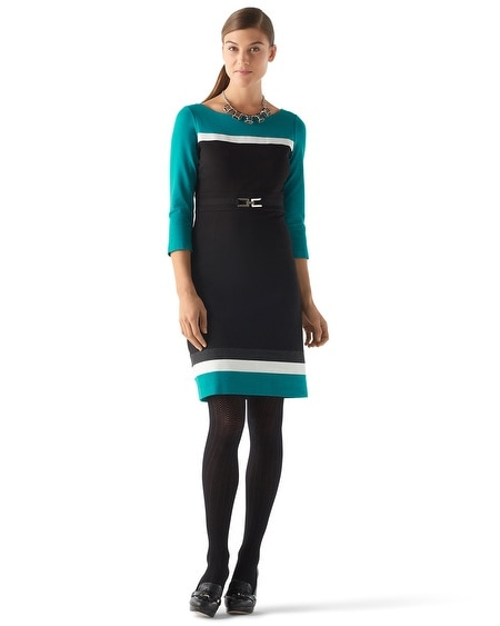 Colorblock Ponte Dress