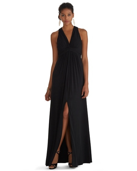 Cross-Back Matte Jersey Gown