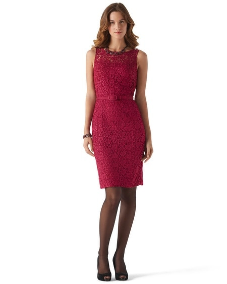 Cardinal Guipure Lace  Dress