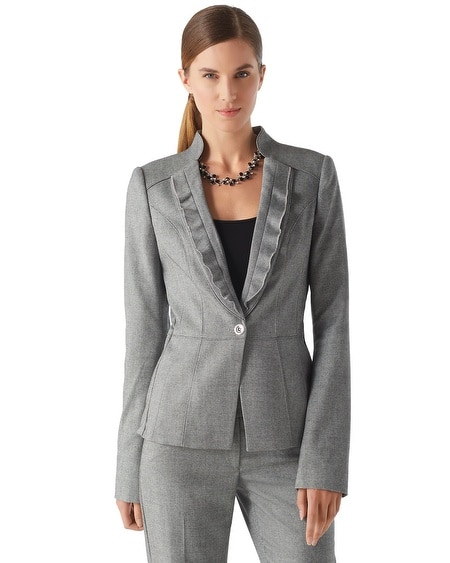 Refined Tweed Suit Jacket