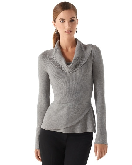 Cowl Neck Peplum Sweater