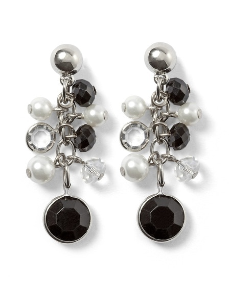 Black & White Bauble Earrings