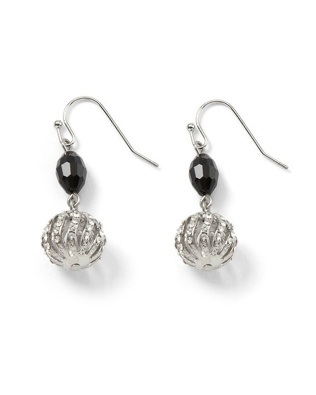 Collector's Crystal Bead Linear Earring