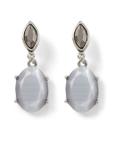 Gray Moon Glow Earring