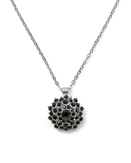 Jet Starburst Pendant Necklace
