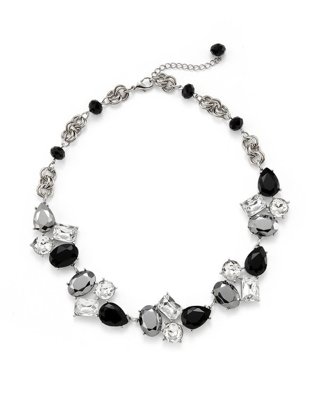 Play With Shapes Crystal Necklace