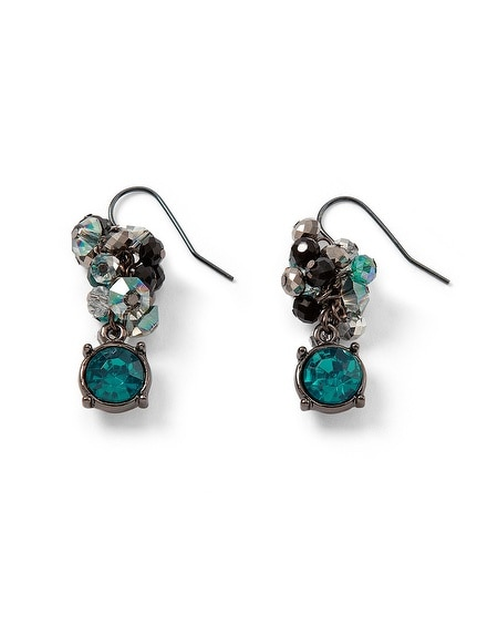 Lotus Crystal Bauble Earring
