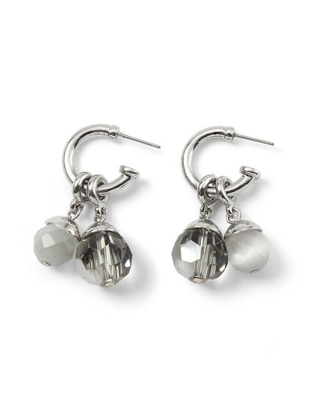 Gray Cat's Eye Crystal Convertible Earring