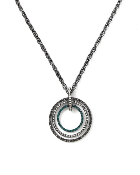 Lotus Pave Convertible Pendant Necklace