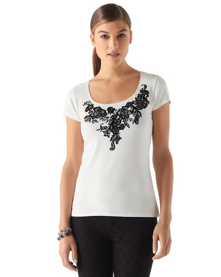 Floral Applique Tee