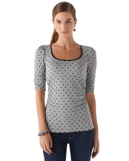 Dotted Elbow Sleeve Tee