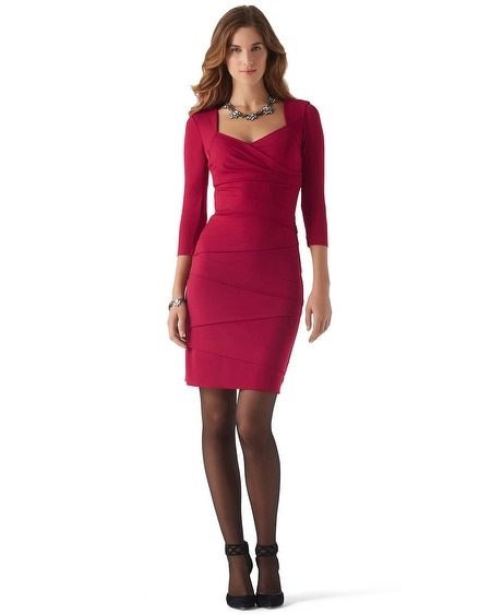 Cardinal Red Instantly Slimming Dress