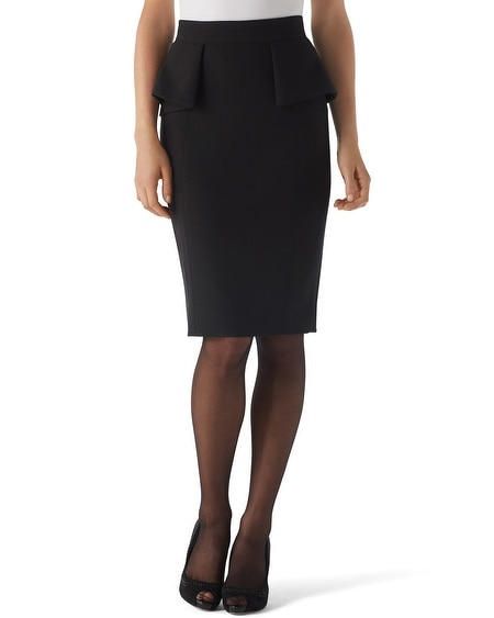 Peplum Pencil Skirt