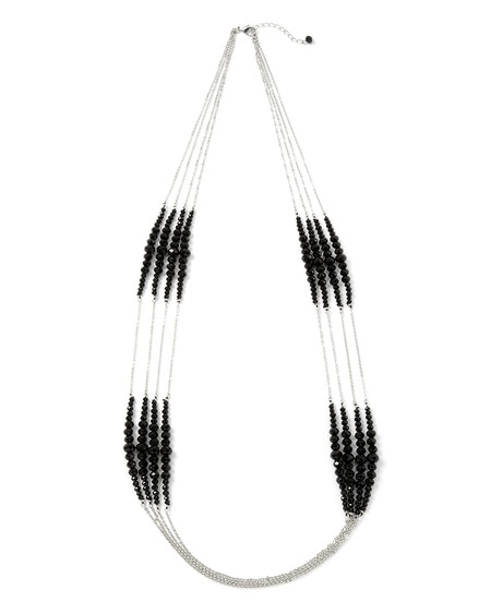 Deco Jet Crystal Necklace
