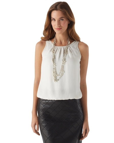 Necklaced Silk Top