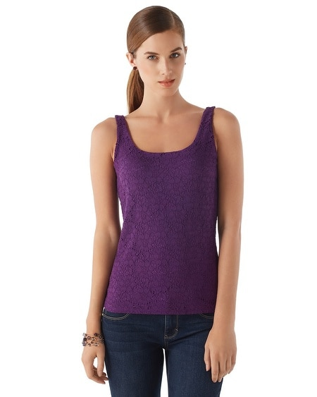 All-Over Lace Imperial Purple Cami