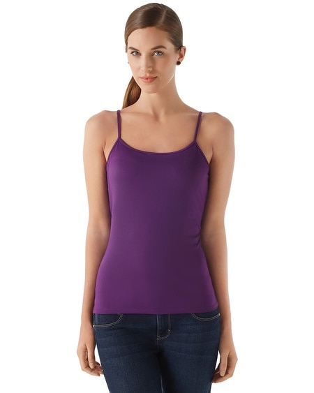 Imperial Purple Scoop Neck Cami