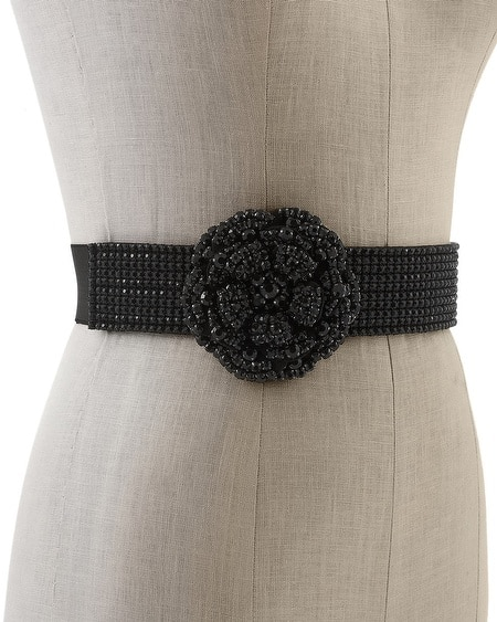 Crystal Flower Stretch Belt