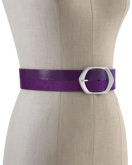 Imperial Purple Wide Belt