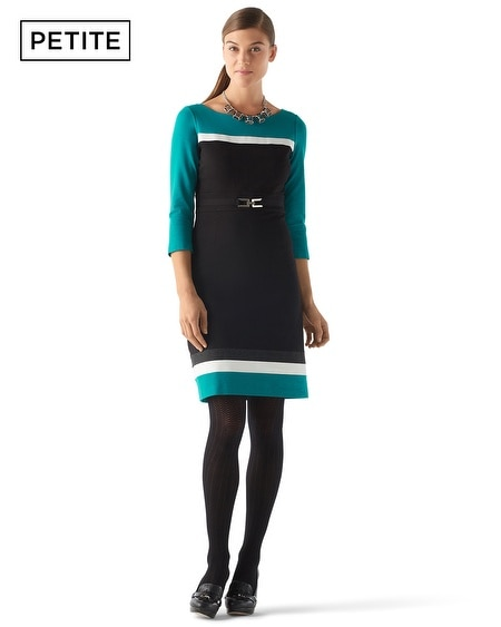 Petite Colorblock Ponte Dress