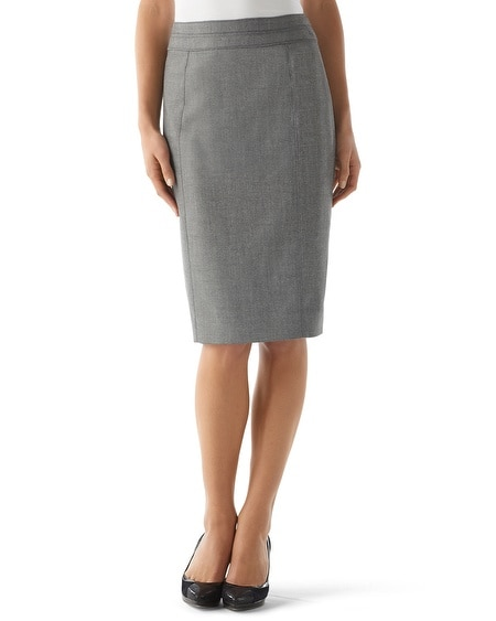 Herringbone Stripe Suit Pencil Skirt