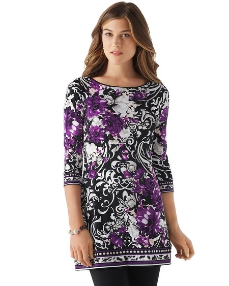Floral Matte Jersey Tunic