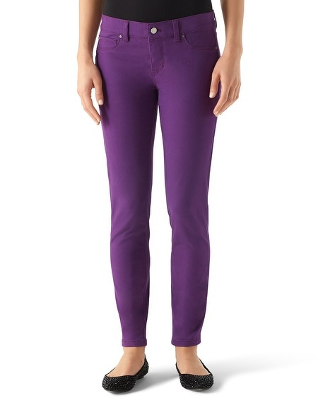 Noir Imperial Purple Skinny Ankle Jean