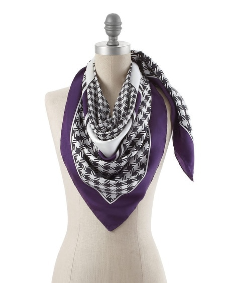 Silk Imperial Purple Scarf