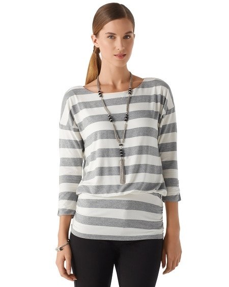 Lurex Stripe Blouson Top