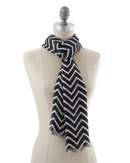 Zig Zag Sequined Oblong Scarf