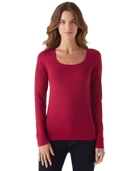 Cardinal Long Sleeve Seamless Tee