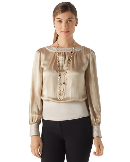 Silk Split Sleeve Blouse